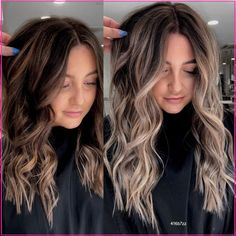 Balayage Hair Brunette With Blonde, Brown Hair Balayage, Brown Blonde Hair, Light Brown Hair, Hair Color Balayage, Hair Highlights, Ombre Hair, Brunette To Blonde Before And After, Going Blonde From Brunette