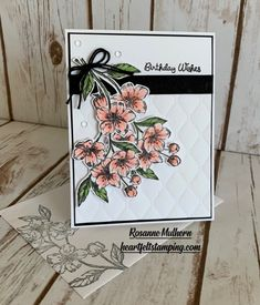 Shop Online for Stampin' Up! Products - Mary Fish, Stampin' Pretty WOW Picks from my Pals Stamping Community. Birthday Wishes, Birthday Cards, Paris Cards, Stampin Pretty, Flower Images, Flower Cards, Stampin Up Cards, Card Stock, Card Making