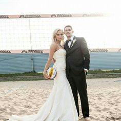 Volleyball wedding pics