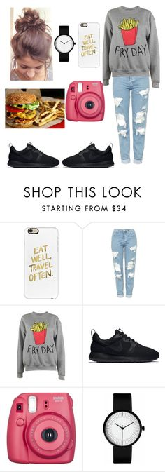 """""""Food and Fun"""" by nerdvines ❤ liked on Polyvore featuring Casetify, Topshop, Adolescent Clothing, NIKE and Fujifilm"""