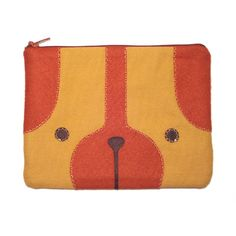 Puppy Zipper Pouch by bubbledog: $18