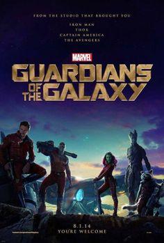 Guardians of the Galaxy Movie Poster. The first poster for Marvel's Guardians of the Galaxy, starring Chris Pratt, Zoe Saldana, and Bradley Cooper. Chris Pratt, Sci Fi Movies, Marvel Movies, Movie Tv, Movies 2014, Watch Movies, Epic Movie, Imdb Movies, Comedy Movies