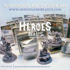 lots of minis are on their way to our customers homes. did you order yet?   get your next mini at www.heroesandbeasts.com    #dungeonsanddragons #rpg #d20 #roleplay #geek #dnd5e #roleplayinggame #tabletopgames #dungeonmaster #gaming #tabletopgaming #miniature #coolminis #minipainting #miniatures #dnd #minianturednd #dndminis #3dprint #Dungeons #Tabletop #TabletopGames #DnDArt #DnDCharacter #RPG #Roleplay #DungeonMaster #Fantasy #CriticalRole #Pathfinder Dungeons And Dragons Characters, Dnd Characters, Dnd Art, D 20, Mini S, Mini Paintings, Tabletop Games, 3d Printing, Geek Stuff
