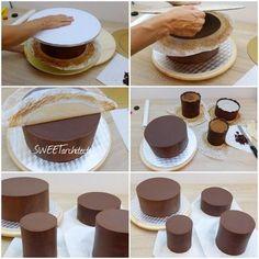 Ganache 4 Ganache Cake, Mini Cheesecakes, Chocolate Ice Cream, Cake Tutorial, Sweet Desserts, Relleno, How To Make Cake, Baking Recipes, Cupcake Cakes