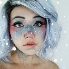 Looking for for ideas for your Halloween make-up? Browse around this website for cute Halloween makeup looks. Cool Makeup Looks, Creative Makeup Looks, Crazy Makeup, Cute Makeup, Amazing Makeup, Unique Makeup, Halloween Look, Cute Halloween Makeup, Halloween 2016