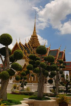 Check out those trees at the King's Palace in Bangkok!- Little Passports #littlepassports #bangkok #mustsee