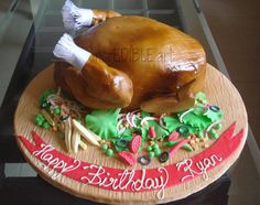 Roasted Chicken Cake  Cake by Rumana Jaseel