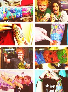 Ed's tattoos. I like how he is slowly telling the story of his life with them in these bright colors that make it stand out. So very....Ed. :)