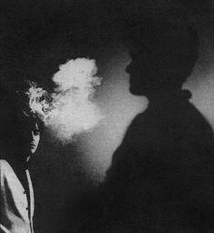 stoneponi:  The Smiths: Johnny Marr  Morrissey. Photo: Anton Corbijn for NME 1984.