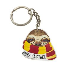 Our Hairy Slother sloth is now a keychain. Printed on a high quality, laser cut acrylic. This keychain is a must-have for any sloth lover and makes the perfect gift to show your love for someone. The