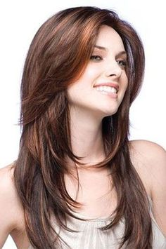 16 Inch Layered Haircuts Brown Indian Human Hair Full Lace Wigs - hair styles for short hair Easy Hairstyles For Long Hair, Messy Hairstyles, Straight Hairstyles, Hairstyle Hacks, Feathered Hairstyles, Latest Hairstyles, Volume Hairstyles, Wedding Hairstyles, Brunette Hairstyles
