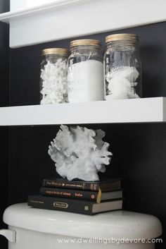 Dwellings By DeVore: Mason Jar Bathroom Storage