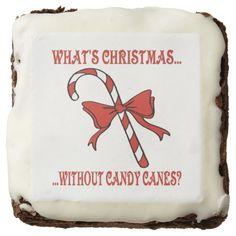 Candy Cane Brownies Square Brownie http://www.zazzle.com/candy_cane_brownies_square_brownie-256616551372091997?rf=238271513374472230  #christmas  #ediblegifts   #christmasideas