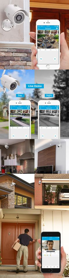 Surveillance Security Systems: Home Wireless Security Video Camera System Surveillance 720 Hd Night Vision App -> BUY IT NOW ONLY: $46.99 on eBay!