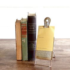 Metal Recipe Card Holder With Clip