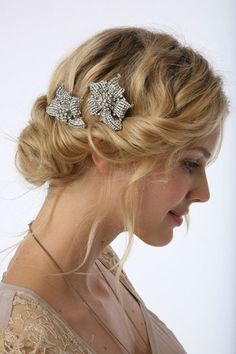 beautiful hairstyle and hair acessories