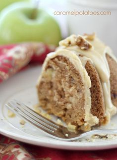 Caramel Apple Bundt Cake~You can make this recipe in a 9 x13 pan... but Nothing reminds me of my Grandma like a Homemade cake in a Bundt Pan!