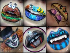 Lip art makeup art Disney amazing lip art See this Instagram photo by @lolilooo • 1,012 likes