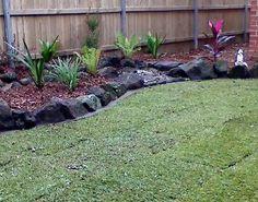 Rock edging for flower beds leave a reply cancel border landscaping garden design fake bed . Rock Edging, Garden Border Edging, Rock Border, Lawn Edging, Garden Borders, Side Garden, Lawn And Garden, Garden Beds, Pond Landscaping