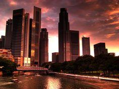 singapore, singapore cities-and-their-skylines