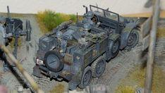 "Krupp Protze ""Kfz.69 Zugwagen für 3,7-cm-PaK 36"" Scale Models, Military Vehicles, Modeling, Miniatures, Dioramas, Locomotive, Model Building, Modeling Photography, Army Vehicles"