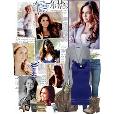 Elena Gilbert by mery90 on Polyvore featuring Rosemunde, Paige Denim and Vince Camuto
