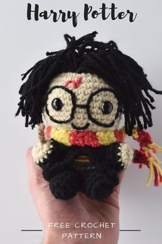 Create your own Harry Potter Amigurumi pattern made form this free pattern, DIY handmade