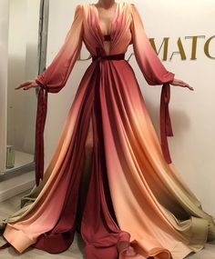 A-Line Strapless Slit Long Prom Dresses with Pockets, Simple Formal Party Dresses - Fashion Evening Dresses, Prom Dresses, Formal Dresses, Halter Dresses, Elegant Dresses, Pretty Dresses, Ombre Gown, Looks Party, Gowns For Girls