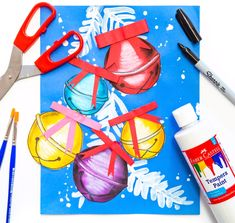 Sleigh bell holiday art project for kids deep space sparkle Christmas Art Projects, Winter Art Projects, Projects For Kids, Crafts For Kids, Arts And Crafts, Christmas Art For Kids, Deep Space Sparkle, Labor Day Crafts, Fun Craft