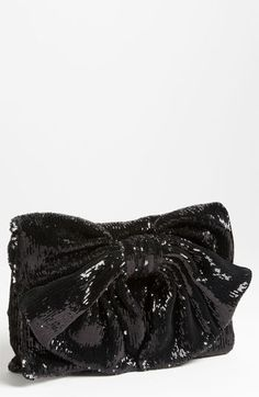 RED Valentino Sequin Bow Clutch | Nordstrom