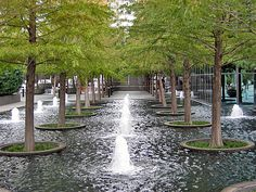 Fountain Place<br/>Photo by Charles Birnbaum:: ::The Cultural Landscape… Landscape Architecture Design, Landscape Plans, Urban Landscape, Landscape Architects, Retail Architecture, Architecture Plan, Landscaping Tips, Garden Landscaping, By Any Means Necessary