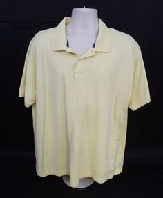 St Johns Bay Heritage Pique Polo Golf Shirt Yellow 2 Button XXL        (Stk#A01) #StJohnsBay #PoloRugby