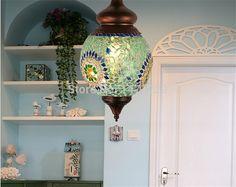 Mosaïque décorative marocaine lampes suspendues cuivres(China (Mainland))