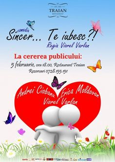 "Comedia ""Sincer… Te iubesc?!"" la Restaurant Traian Solomon, Restaurant, Movie Posters, Film Poster, Popcorn Posters, Restaurants, Film Posters, Posters, Dining Room"