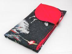 Star Wars Baby Blanket,  Death Star, X Wings, Red