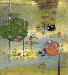 "Strange Attractors   oil on canvas   40 x 36""   2011 - Peter Doig? Detail?"
