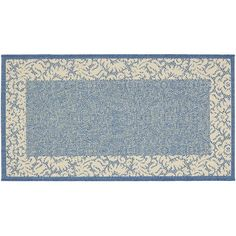 Safavieh Courtyard Floral Scroll Indoor Outdoor Rug, Blue