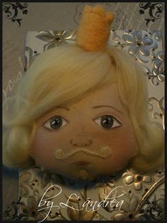 """Hand painted dolls -""""The King"""""""