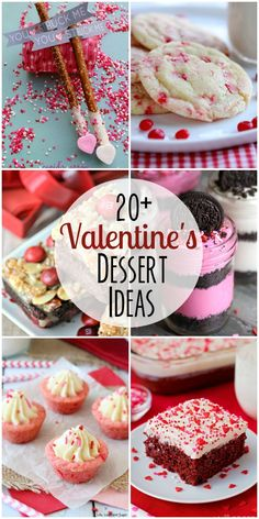 20+ Valentine's Dessert Ideas - a roundup of delicious pink and red desserts perfect for Valentine's day! See it on { lilluna.com }!!