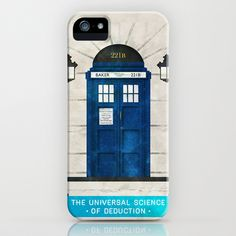Doctor Who & Sherlock iPhone & iPod Case by Sof Andrade - $35.00