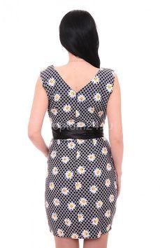 Платье темно-серое летнее А7685 Размеры: 50-56 Цена: 675 руб.  http://optom24.ru/plate-temno-seroe-letnee-a7685/  #одежда #женщинам #платья #оптом24