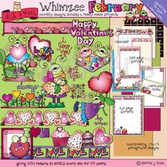 Whimzee February Valentine clip art