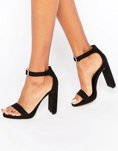 New Look Buckle Barely There Heel