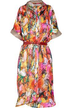 Holly printed devoré shirt dress by Preen