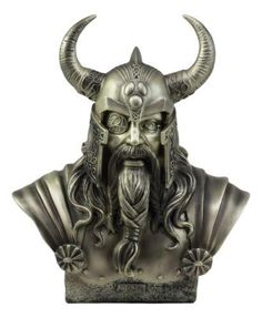 Norse Viking Warrior God Odin The Alfather Bust Statue Ruler Of Asgard Figurine Nordischer Wikinger-Krieger-Gott Odin The Alfather Bust Statue. Viking Tattoo Symbol, Viking Tattoos, Odin Marvel, Odin Norse Mythology, Blackwork, Mythology Tattoos, Viking Helmet, Norse Vikings, Real Vikings