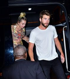 Miley Cyrus and Liam Hemsworth Hold Hands While Heading Out in NYC