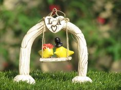 Wedding cake toppers  A custom pair of ceramic love by orlydesign, $115.00