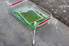 Soak your oven vent in Dawn dishwashing liquid and ammonia.  Clean with a toothbrush.
