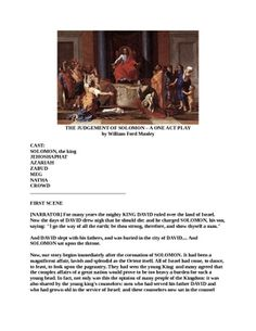 Drama - The Judgment of Solomon - A One Act Play Solomon Wisdom, King Solomon, Blind Dates, American Literature, Sunday School, Short Stories, Plays, Mothers, Acting
