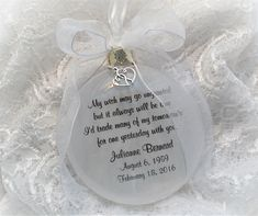 In Memory Ornament My Wish May Go Ungranted. Free Personalization with a Free Charm M M Candy, Loss Of Loved One, Memorial Ornaments, Thoughts Of You, Own Quotes, Angels In Heaven, I Think Of You, Sympathy Gifts, Hold You
